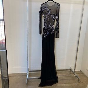 BLACK SEQUIN LONG DRESS
